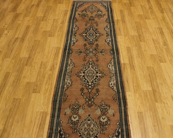 Antique Washed Faded Shahrbaft Runner Persian Oriental Area Rug Carpet 3X13