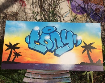 Canvas painting streetart custom graffiti name