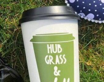 Hub Grass & Chill coffee decal