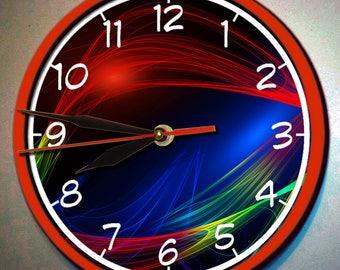Apstract wood wall clock, Apstrac wall clock, Handmade decoupage