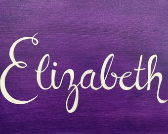 Personalized Hand-painted Name Canvas