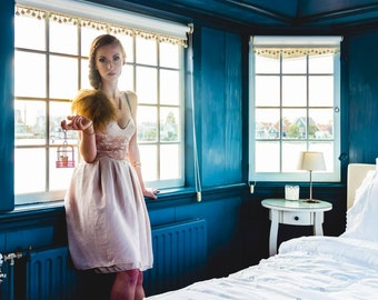 Chiffon dress with corset, Fly Like a Bird