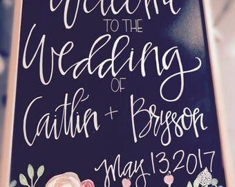 Wedding chalkboard, custom wedding sign