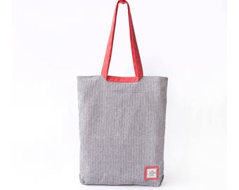 Tote bag, Casual tote, Everyday Tote bag, women's Handbag/ Canvas tote/simple tote - 17-01A - Special tote for her