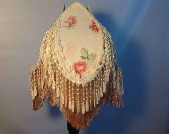 SALE Shabby Victorian Lampshade Pale Pink Romantic Lampshade Shabby Lighting Roses