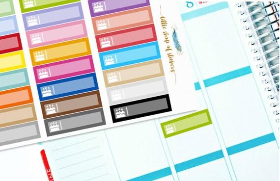 Birthday Labels || Birthday Cake Planner Stickers, Label Stickers, Functional Stickers, Birthday Stickers, Planner Decor, Planner Labels