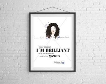 Cristina Yang - Brilliant - Watercolor - Handmade