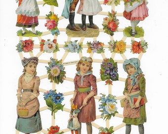 CHROMOS images of children poetry - 24 images - Images vintage - Victorian Images - Relief Scrap - 7282