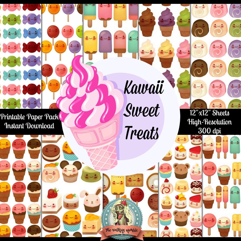 Scrapbook paper kawaii - This Is A Digital File