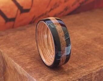 Jack Daniel's Reclaimed Whiskey Barrel Ring with Ebony