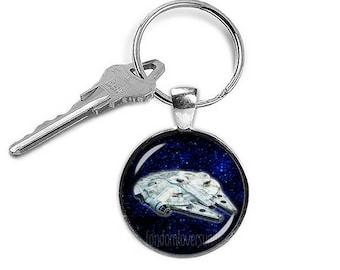 Millennium Falcon Keychain Star Wars Keyfob Star Wars Alliance Ship Keyring Fangirl Fanboy
