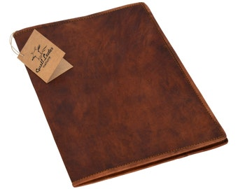 Gusti leather 'Brenda' leather book cover