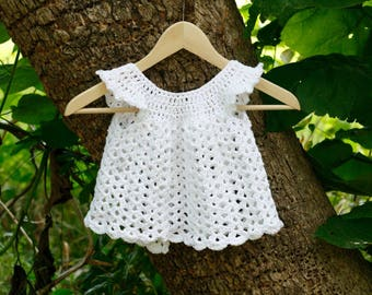 Crochet Cotton Baby Dress