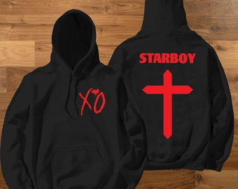 XO - The Weeknd StarboyCross unisex hoodie - Yeezus Tour Gov Ball Tee - Yeezy -  Brands Jerzzes and Gildan