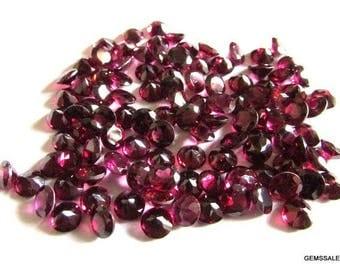 10 pieces 4mm Rhodolite Garnet Round Faceted Gemstone, Natural Rhodolite Garnet Faceted Round Brilliant Cut Gemstone, Rhodolite Garnet Round