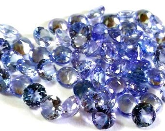 5pcs 5mm Tanzanite Faceted Round AAA quality calibrated size Round Faceted Gemstone