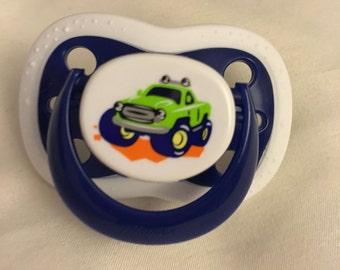 Reborn Baby Monster Truck Pacifier