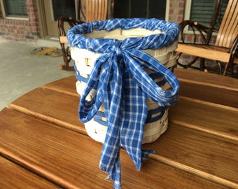 Blue country basket