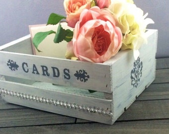 Wedding Card Box-Boho Chic Wedding Card Box-Shabby Chic Card box