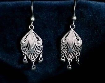 Silver Filigree Earrings Cordoba II, Sterling Silver, Filigrana Cordobesa, Lace Earrings, Handmade Earrings, Spanish Crafts, Gift Idea
