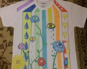 Eye flower rainbow Art T-Shirt