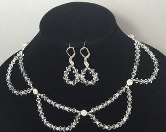 Glistening Pools Necklace and Earrings