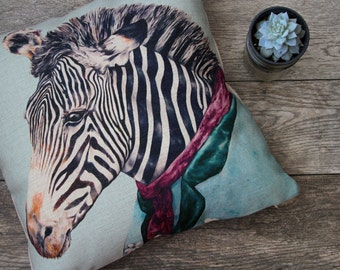 Zebra Pillow Cover  / Striped Pillow Cover / Pillow Covers / Throw Pillow / Cushion Covers / Decorative Pillow Covers.