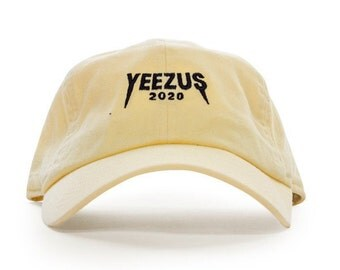 Yeezus 2020 Embroidered Baseball Hat | Vanilla