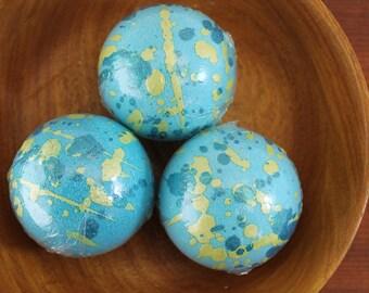 Basil & Rosemary Bath Fizzies / Handmade Bath Bombs