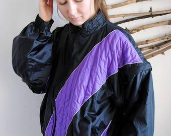 Detachable sleeves vintage sport jacket 1990s 1980s windbreaker Snapper
