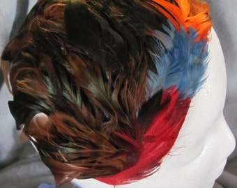 Vintage 1960's Feather Fascinator with Feathers