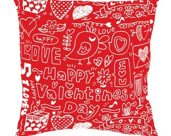 Red pillow Valentine's Day Decorative pillow for girls Universal Gift Idea