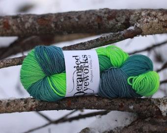 Swamp Juice  - 100% Superwash Merino Wool Yarn - Worsted Weight