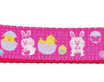 X-Large Easter Bunny & Chick Adjustable Dog Collar