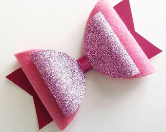 Large bow, girls bow, big pink bow