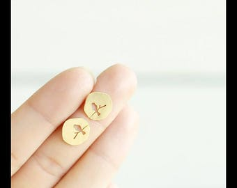 18 K gold plated earrings