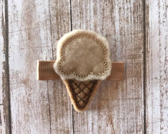 Ice Cream Hair Clip | Ice Cream Cone Hair Clip | Spring Hair Clip | Summer Hair Clip | Hair Clip | Feltie Hair Clip | Hair Accessories