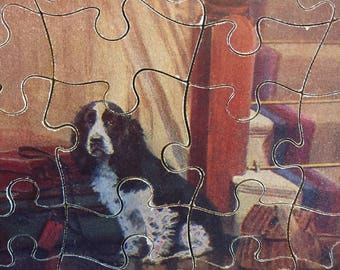 Lovely Vintage wooden spaniel jigsaw