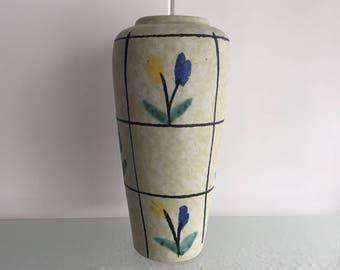 Retro tulpenvaas Scheurich jaren 50-60 tulpen vaas - fifties retro tulips vase - sixties - 60's - midcentury