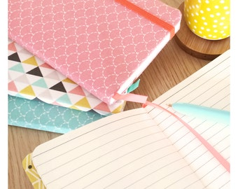 Notebook A6 line geometric patterns