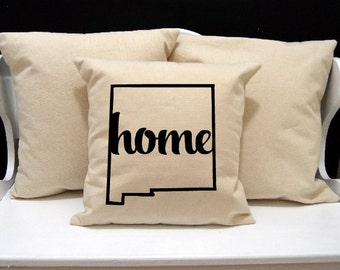 New Mexico Home Pillow, New Mexico Pillow, home pillow, pillow gift, New Mexico gift, Envelope Pillow Cover, state pillow, NM pillow, 20x20