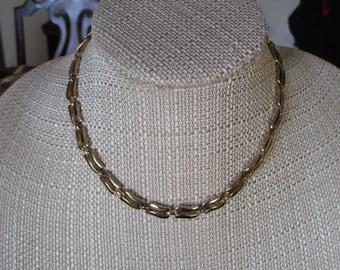 Vintage Monet Gold Tone Choker Necklace