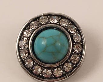 20mm Snap, Color - Turquoise