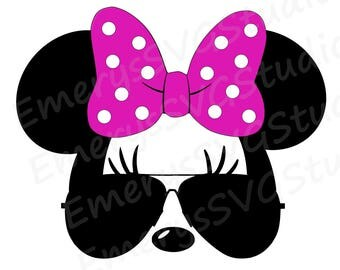 SVG DXF File for Minnie with Aviator Sunglasses