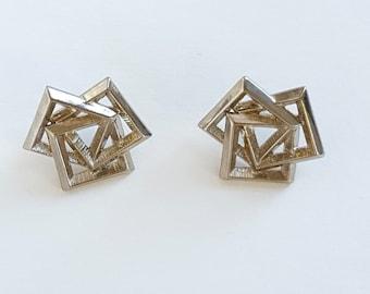 Vintage 1980s Geometric Earrings