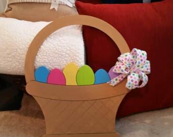 Easter Basket with Eggs Door Hanger
