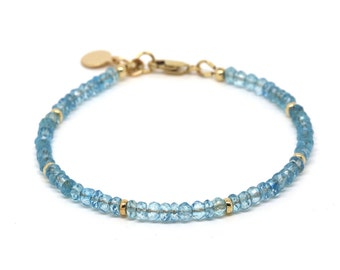 Sky Blue Topaz bracelet, gemstone bracelet