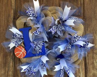 Duke Inspired Burlap Wreath