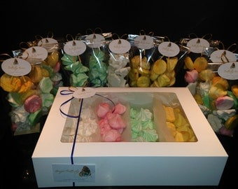 Butterfly Kisses - Gift Bag of delicious meringue kisses in a selection of flavours and colours.