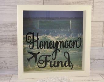 Engagement Present, Honeymoon Fund Box, Honeymoon Money Box Frame, Honeymoon Fund, Money Box Frame, Honeymoon Money Frame